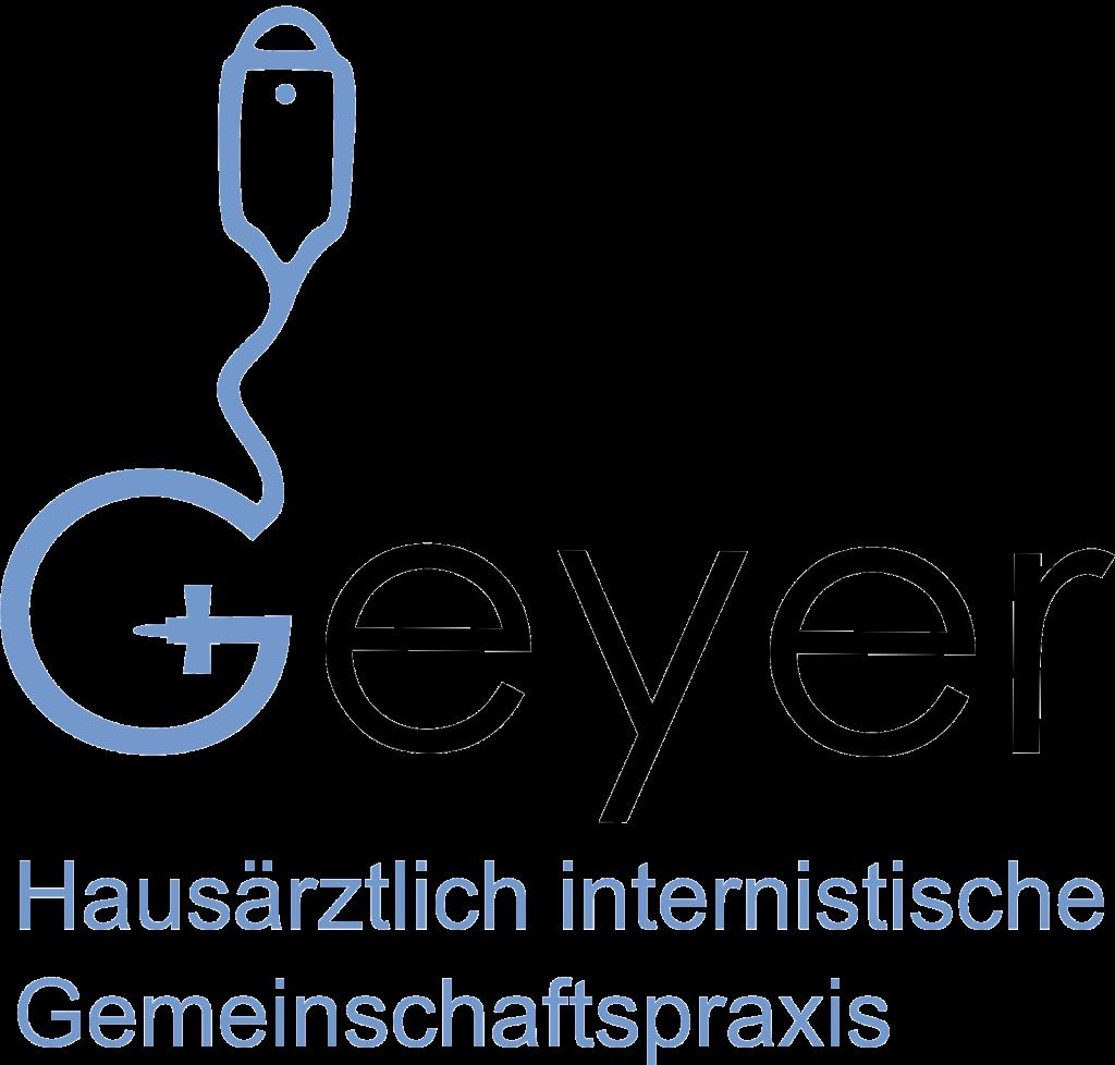 Logo Praxis Dr. Geyer mit Schriftzug Schachbrettmuster
